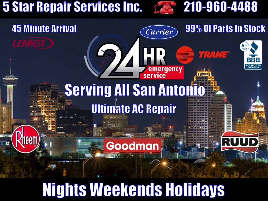 Ac Repair 24 Hour San Antonio New Braunfels Boerne